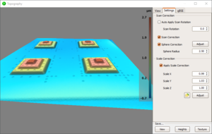 DISS topography plugin with 3D calibration