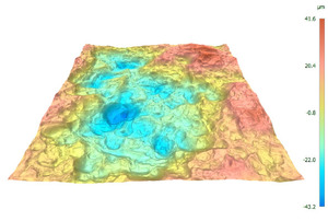 3D topography of forced fracture in Cu